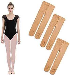 iMucci 3 Pairs Ballet Dance Tights - Velvet Convertible Ballerina Dancing Stockings-Rosa
