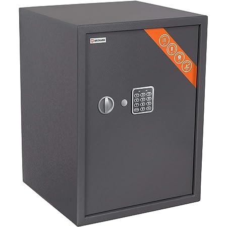 Brihard Business XL Coffre-Fort avec Serrure électronique, 50x35x36cm (HxWxD), Gris Titane