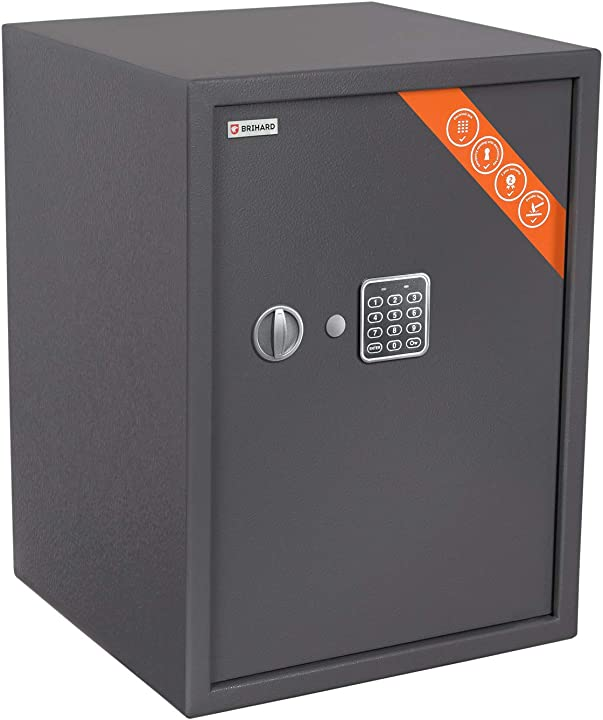 Cassaforte elettronica brihard business xl 50x35x31cm (hxwxd) grigio titanio B075WR3M3X