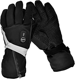 Heated Gloves,Electric Gloves Men Women with Rechargeable Battery 7.4V 2200MAH for Winter Sport Motorcyle Biking Cycling Ski Hunting Fishing Snow Heated Mitten Gloves Arthritis Hand Warmer