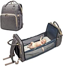 Diaper bag bed, multi-purpose travel bag, baby backpack, baby changing bag, 4-in-1 baby backpack baby carriers Convertible...