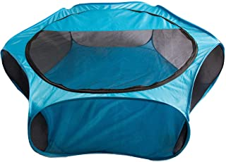 Happy Pet Ideas Small Animal Playpen with Removable Zip Shade Cover Hamster Gerbil Rabbit Rat Ferret Portable Pop Up Mesh See Through