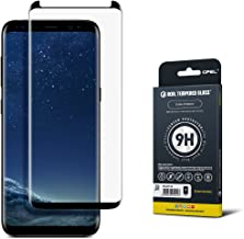 GPEL Screen Protector for Galaxy S8 Premium Japanese Asahi Tempered Glass, 3D Curved full cover, Case Friendly (Black) (Not S8 Plus)
