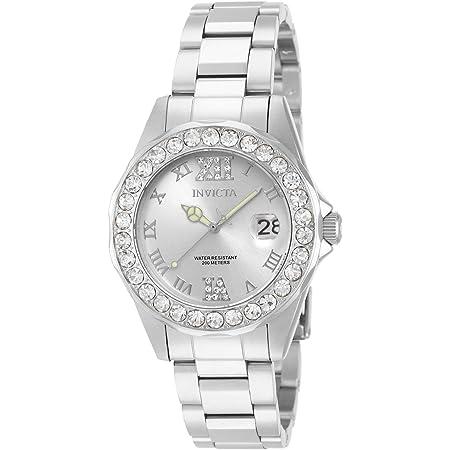 Invicta Women's Pro Diver 38mm Stainless Steel Quartz Watch, Silver (Model: 15251)