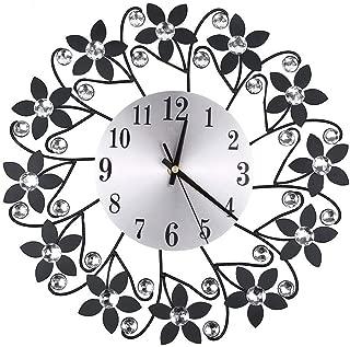 Kay Cowper Wrought Iron Diamond Fashion Wall Clock Bedroom Silent Metal Wall Clock Decor