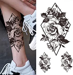 Crown Tijdelijke Tattoo Vrouwen Mannen Volwassen Tattoo Sticker Schedel Bos Zwarte Tijger Schedel Bloem Mode Tattoo-CXQB384