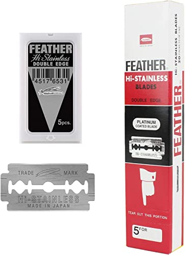 100 Feather Razor Blades NEW Hi-stainless Double Edge …
