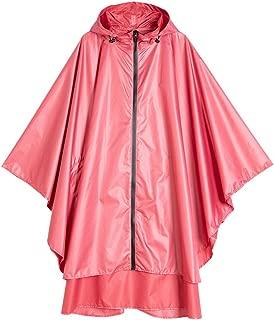 Spmor Rain Poncho Hooded Jacket Coat with Pockets