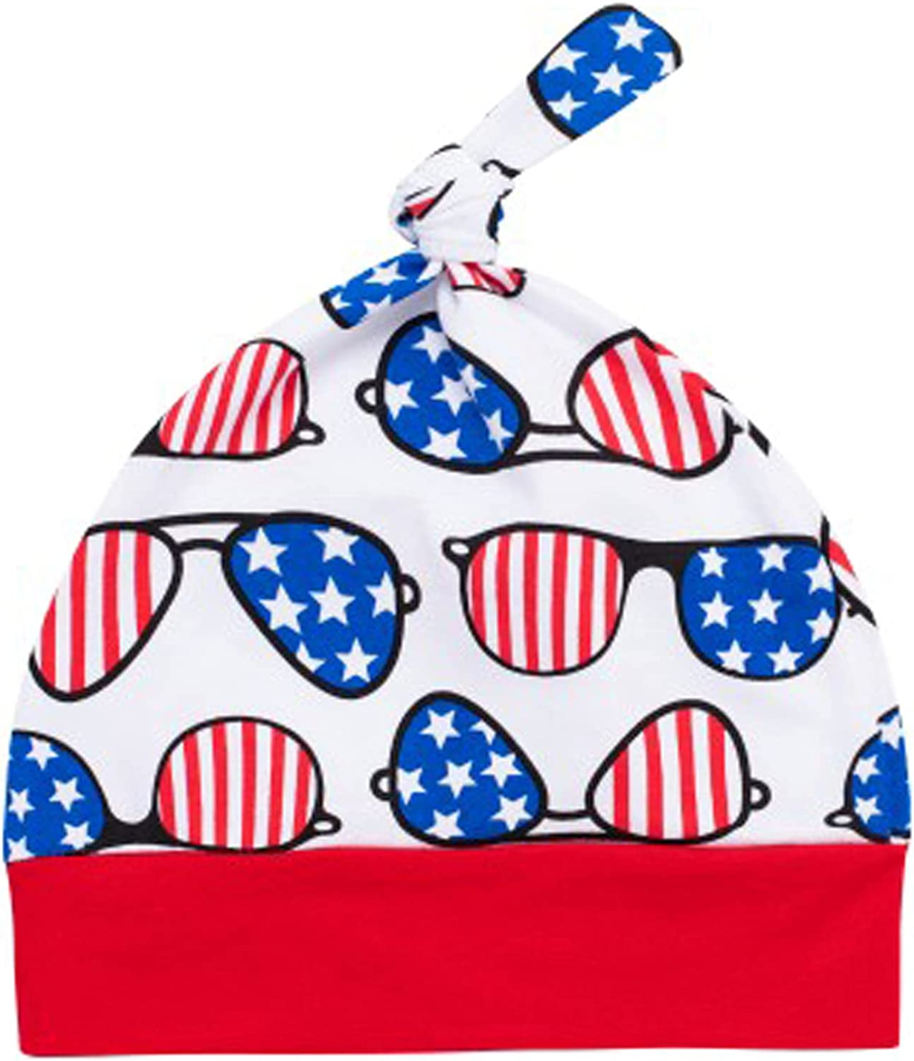 Infant Baby Boy My First 4th of July Independence Day Bodysuit Clothes Short Sleeveless Outfit with Hat