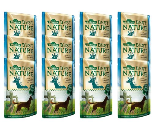 Dehner Best Nature Hundefutter Adult, Wild und Nudeln mit Cranberries, im Beutel, 12 x 150 g (1.8 kg)