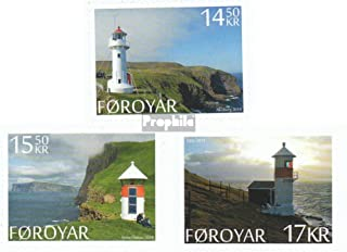 Denmark - Faroe Islands 809-811 (complete.issue.) 2014 Lighthouses (Stamps for collectors) Lighthouses