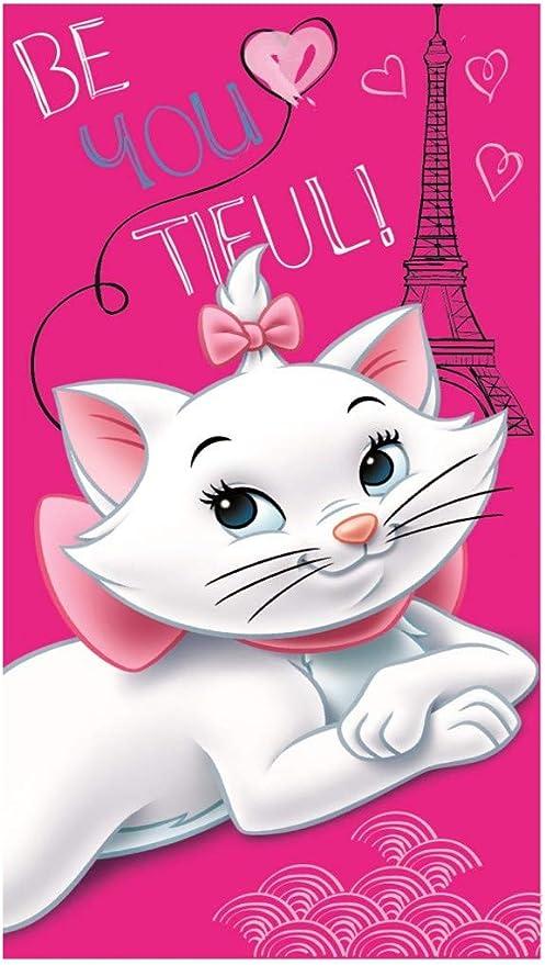 Kinder Geschenkidee Disney Aristocats Marie Handtuch Duschtuch Badetuch Strandtuch 100 Baumwolle Marie A1 Küche Haushalt