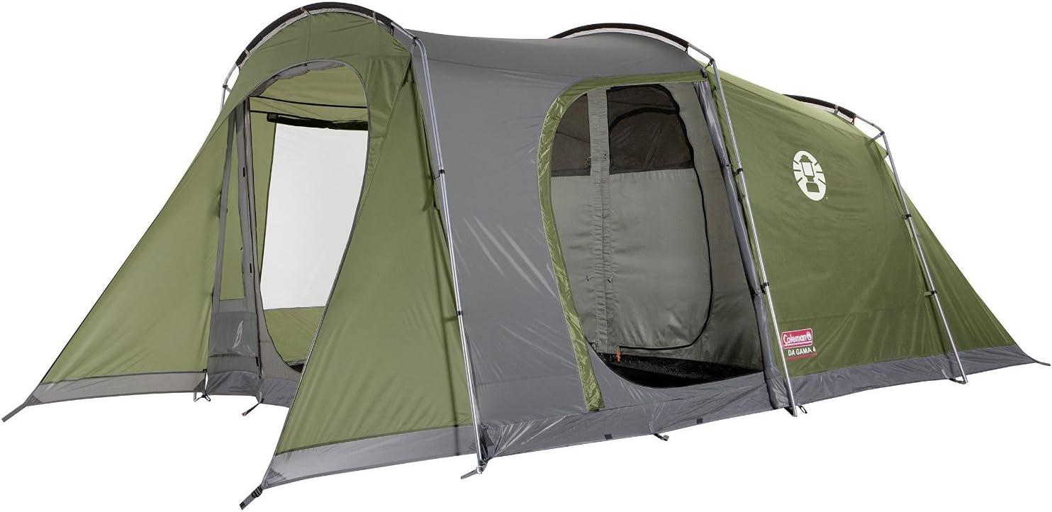 meilleure tente 4 places Coleman Da Gama. Tentes tunnels, couleur verte, pour 4 personnes