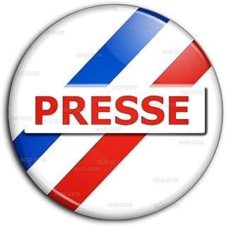 Badge 25mm Presse Reporter Journaliste Pins Bouton Epinglette