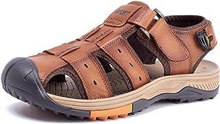 HYZXK Zuecos y Mulas para Hombre Sandalias Verano para Hombre Zapatos de Playa para Hombre Sandalias Informales de Cuero p...