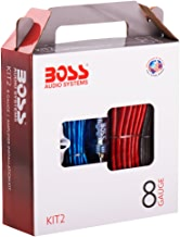 Boss Audio Systems KIT2 8 Gauge Amplifier Installation Wiring Kit - A Car Amplifier Wiring Kit Helps You Make Connections and Brings Power to Your Radio, Subwoofers and Speakers