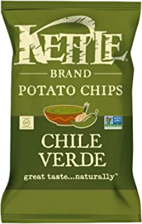 NEW Kettle Brand Potato Chips Chile Verde, Tropical Salsa, Spicy Queso Net Wt 8.5oz (1)