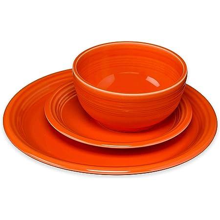 Amazon Com Fiesta 3 Piece Bistro Set Poppy Dinnerware Sets