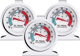 3PCS Refrigerator Freezer Thermometer - Refrigerator/Freezer/Fridge Temperature Cooler - Classic Series Large Dial Thermom...