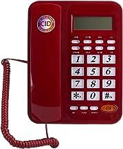 $35 » Sponsored Ad - Wired Landline Phone, Desktop Corded Landline Telephone with Speakerphone+Caller ID DTMF/FSK System for Hom...