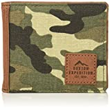 Buxton mens Expedition Ii Huntington Canvas Rfid Blocking Slimfold Wallet - Green
