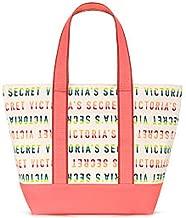 RARE - VICTORIA SECRET HUGE BEACH BAG TOTE BAG. - LOgo rainbow pastel