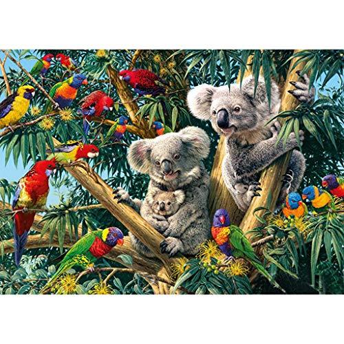 DIY Diamant Malerei 5D Diamond Painting Tiere Vollbohrer Stickerei Malerei Diamantmalerei für Home Wand Decor Gemlde Kreuzstich 30 * 40cm-Koala und Papagei
