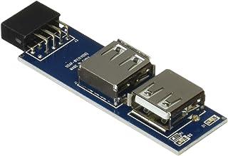 AREA 奥沢3丁目 USB9ピン→USB TypeAポート変換 通電LED搭載 AR-UPIPO-C