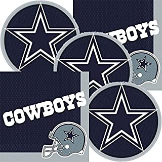 Dallas Cowboys NFL Football Team Logo Plates And Napkins Serves 16