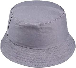 Unisex Cotton Classic Foldable UPF 50+ Sun Hat Outdoor Pure Color Floppy Bucket Hat UV Sun Protection Beach Cap
