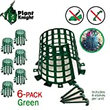 Plant and Tree Guard and Protector for Trees, Plants, saplings, Landscape Lights, lamp Posts, More; Expandable for Larger Trees and Plants; Protection from Trimmers, Weed whackers (Green 6-Pack)