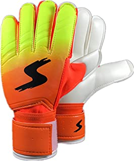 OVERMAL Goalkeeper Goalie Keeper Gloves Roll Finger Soccer Goalie Gloves Football Gift