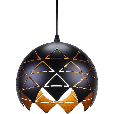 SISVIV Suspension Luminaire Industriel Vintage Lustre en Métal Lampe à Design Original pour Salle à manger Restaurant Loft Cuisine Noire
