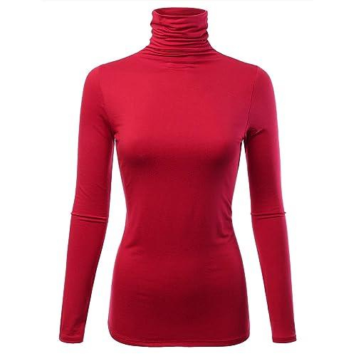 FASHIONOMIC Womens Premium Long Sleeve Turtleneck Lightweight Pullover Top  Sweater (S-3X a617c11ed