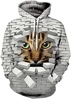 Unisex Thin 3D Digital Print Couple Hoodie Women Men Sport Sweatshirt Pullover Hoody