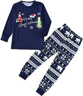 Covermason-pyjama Pyjamas de No/ël Famille Gar/çon Fille du B/éb/é Pyjamas 2PCS Set Sweat-Shirt T-Shirts Chemisier /à Manches Longues Top et Pantalon Sleepwear Ensemble Cerfs V/êtement de Nuit Tenue
