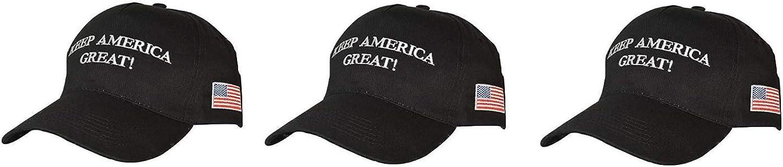 Ezone Make America Great Again Hat [3 Pack], Donald Trump USA MAGA Cap Adjustable Baseball Hat