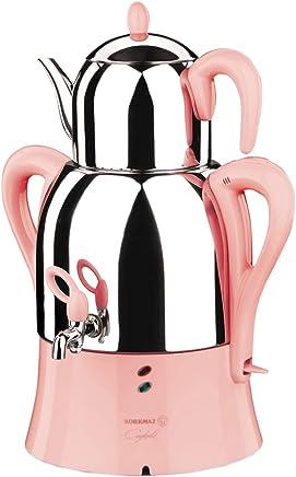 Korkmaz Elektrische Semaver Teekocher Teekanne Caykolik 50 Gläser 2000 Watt Edelstahl - preisvergleich