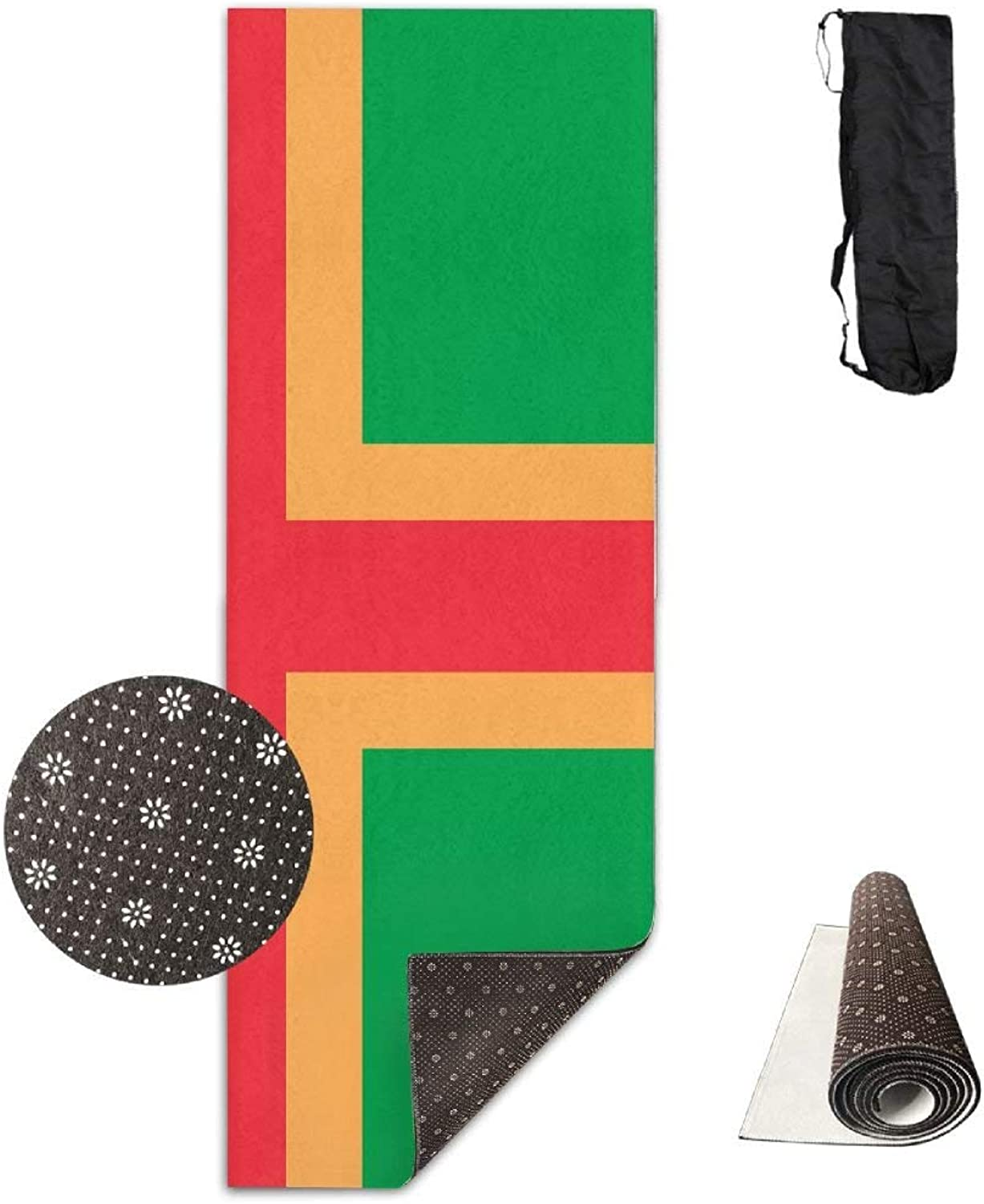 Norway  Zanzibar Heritage Flag Yoga Mat  Advanced Yoga Mat  NonSlip Lining  Easy to Clean  LatexFree  Lightweight and Durable  Long 180 Width 61cm
