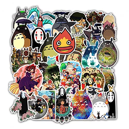 JBOBO 10/30/50 Uds Dibujos Animados a Prueba de Agua Totoro Spirited Away Girl Pegatinas monopatín Maleta Guitarra niños Graffiti Pegatina Juguete para niños