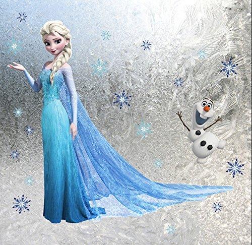 Elsa und Olaf Die Eisprinzessin eingefroren Wandaufkleber Kindergarten Abziehbild Dekor Baby Dekoration Kinder Schlafzimmer Entfernbarer Wandaufkleber Wandgemälde