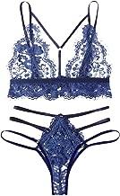 Yamall Lingerie Lace Babydoll 2 Piece Sexy Bra And Panty Sets