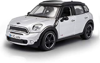 Car Model Car 1.24Mini Ryman Simulation Alloy Diecasting Toy Jewelry Sports Car Collection Jewelry 16X8X6Cm (Color: Silver)