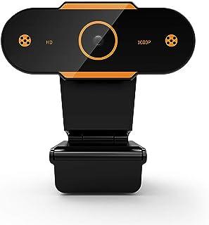 WXFXBKJ Autofocus HD Webcam 1080P, Webcam with Microphone, for Desktop Computer PC USB Webcam, for Live Video Online Learn...