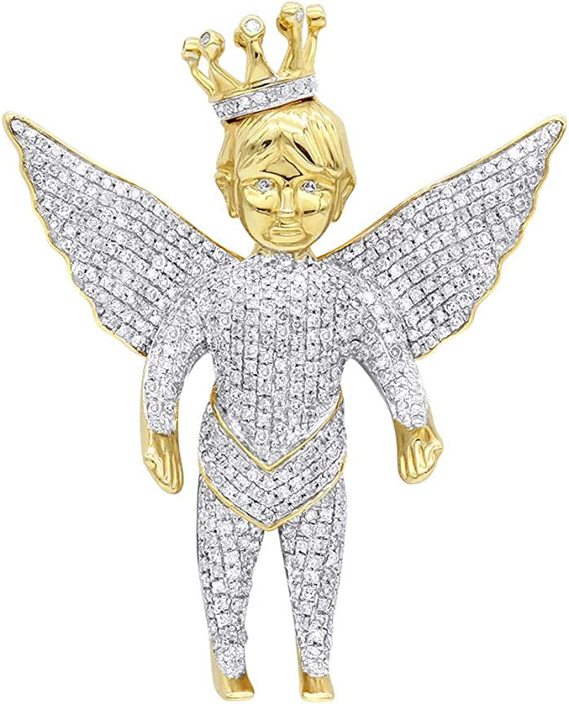 Iced Out Crowned Angle Pendant For Special price for a limited time Round 3.00CT Unisex With Shap Max 73% OFF