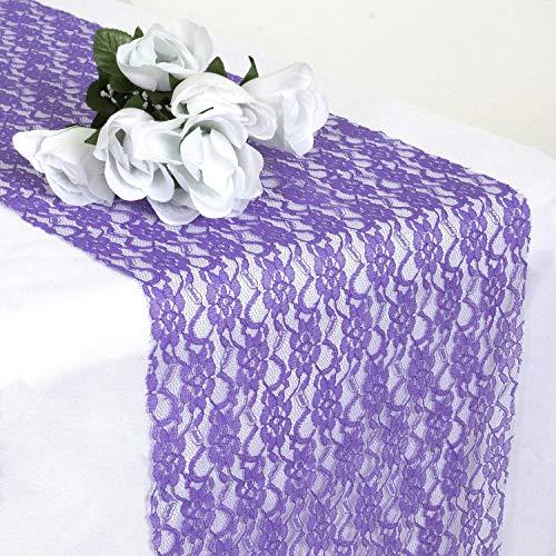 Events N Fabrics 5 Chemin de Table en Dentelle pour Une fête de Mariage noël Anniversaire Banquette décoration Vintage   Lavande