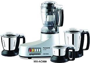 Panasonic AC MX-AC400 550-Watt Super Mixer Grinder with 4 Jars (Silver)