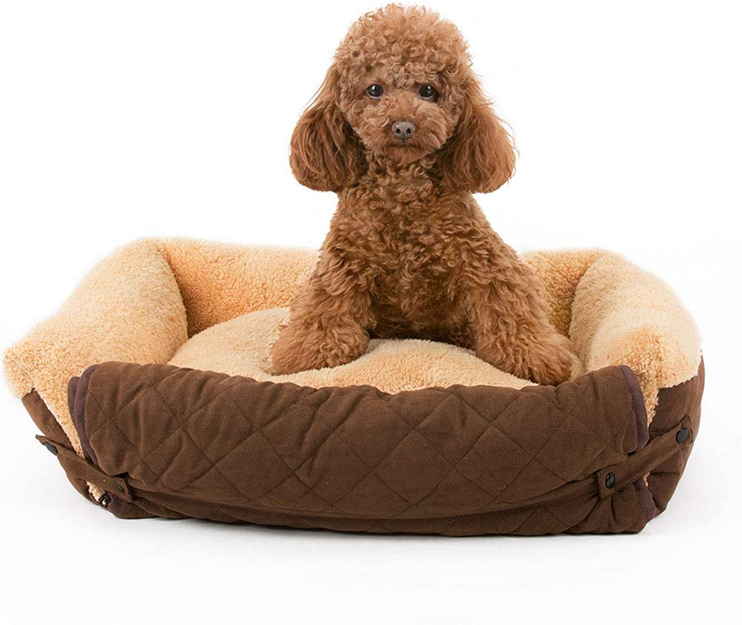 MiaoMiao Luxury HighEnd Pet Dog Cat House Bed Removable And Washable Kennel golden Retriever Large Dog Pet Sofa Nest,Browns