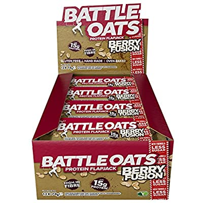 Battle Oats Gluten Free Protein Bars, 70 g, Pack of 12 from Battle Oats