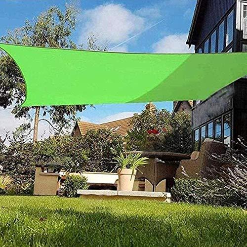 Toldos Impermeables Exterior Rectangular Toldo Vela de Sombra Toldo Vela Impermeable para Patio Exteriores Jardín protección Rayos UV,Green-5X6m